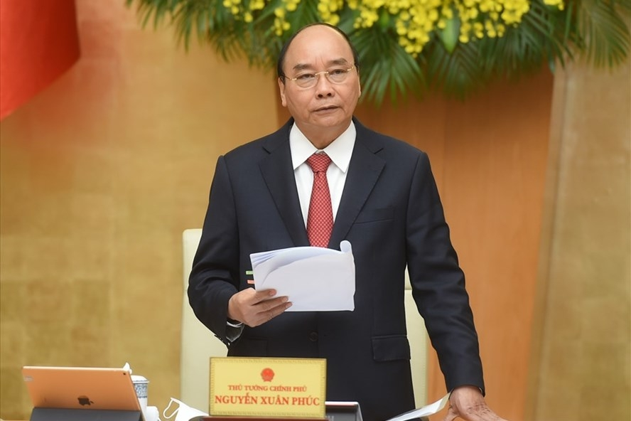 Thủ tướng chủ trì phiên họp Chính phủ thường kỳ tháng 2.2021. Ảnh: Quang Hiếu
