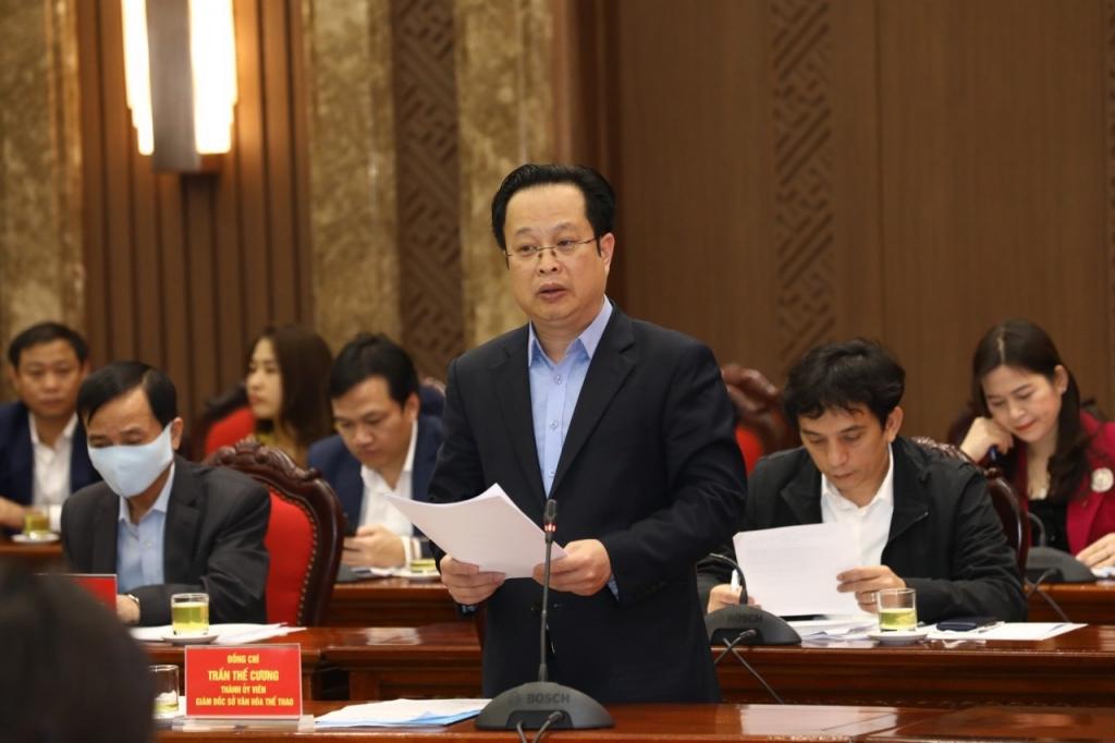 Giám đốc Sở Văn hóa Thể thao Trần Thế Cương phát biểu tại buổi làm việc