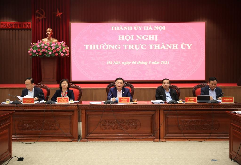Thường trực Thành ủy chủ trì hội nghị
