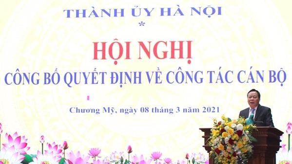 Hà Nội: Công bố các quyết định về công tác cán bộ tại huyện Chương Mỹ và Sở Nội vụ