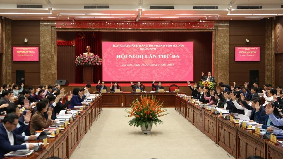 Khai mạc Hội nghị lần thứ ba Ban Chấp hành Đảng bộ TP Hà Nội khóa XVII