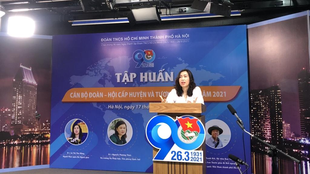 Đồng chí Lê Thị Thu Hằng, Người phát ngôn Bộ Ngoại giao, Vụ trưởng Vụ Thông tin Báo chí Bộ Ngoại giao trao đổi về Chính sách đối ngoại của Việt Nam  tại chương trình