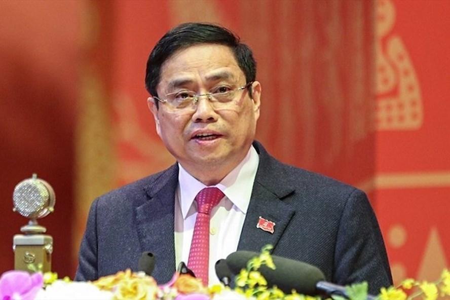 Trưởng Ban Tổ chức Trung ương Phạm Minh Chính được giới thiệu ứng cử đại biểu Quốc hội Khoá XV khối Chính phủ. Ảnh: Hoàng Phong