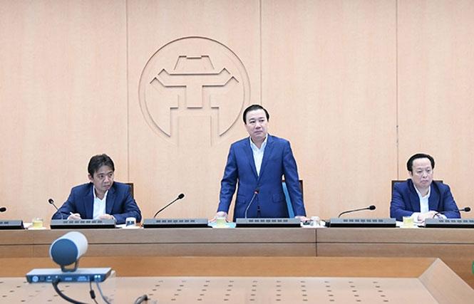 Phó Chủ tịch UBND thành phố Hà Nội Chử Xuân Dũng kết luận buổi làm việc.