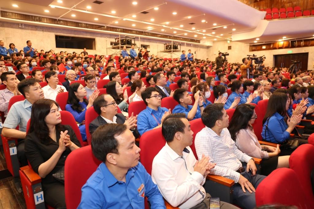 Đông đảo thanh niên Thủ đô tham dự buổi lễ