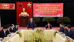 Bí thư Thành ủy Hà Nội Vương Đình Huệ làm việc với Huyện ủy Thanh Trì