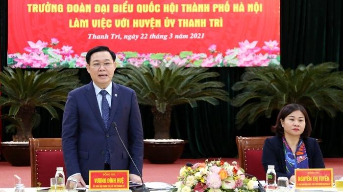 """Huyện Thanh Trì cần hướng tới các mục tiêu """"xanh, thông minh, hiện đại, giàu đẹp"""""""