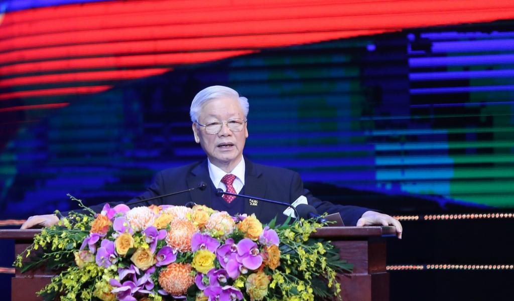 Tổng Bí thư, Chủ tịch nước Nguyễn Phúc Trọng dự và phát biểu tại chương trình