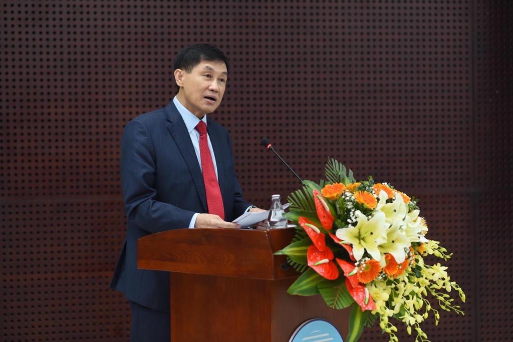 Ông Johnathan Hạnh Nguyễn tại buổi họp báo chiều 29-3 về Điều chỉnh quy hoạch chung thành phố Đà Nẵng đến năm 2030, tầm nhìn đến năm 2045