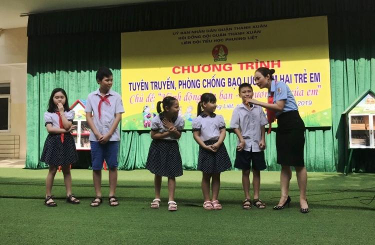Hà Nội: 100% Liên đội đồng loạt tuyên truyền phòng chống bạo lực và xâm hại trẻ em