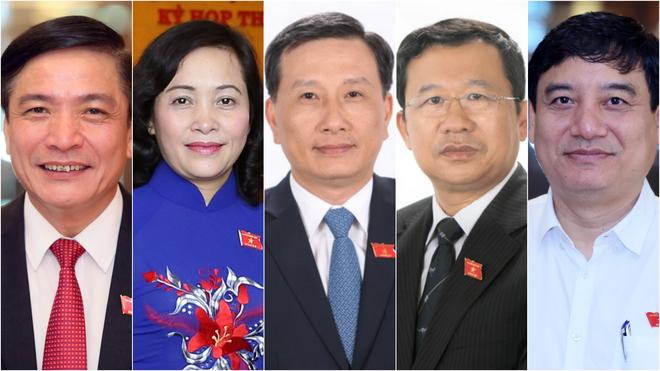 5 đồng chí được giới thiệu để bầu vào Ủy ban Thường vụ Quốc hội khóa XIV