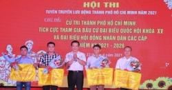 TP HCM tổ chức Hội thi tuyên truyền lưu động về bầu cử đại biểu Quốc hội và HĐND các cấp