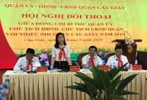 Lãnh đạo quận Cầu Giấy đối thoại với thiếu nhi