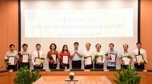 Hà Nội công bố các quyết định về công tác cán bộ có hiệu lực từ ngày 1/7.