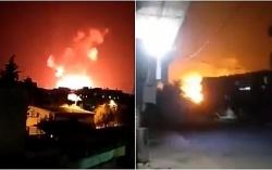 """Căn cứ Syria bị không kích dữ dội, Damascus tố Israel là """"thủ phạm"""""""