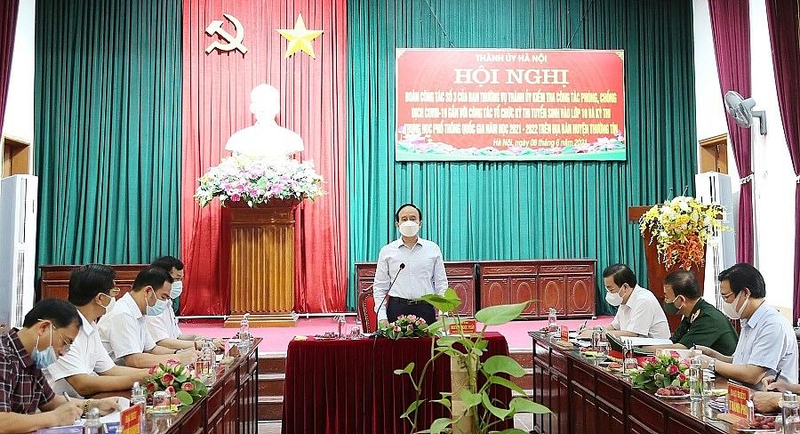 Chủ tịch HĐND TP Hà Nội Nguyễn Ngọc Tuấn phát biểu kết luận buổi kiểm tra tại huyện Thường Tín
