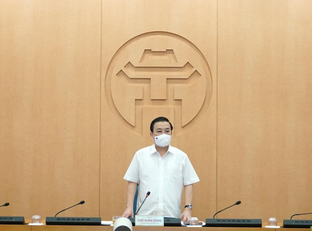 Phó Chủ tịch UBND TP Chử Xuân Dũng kết luận cuộc họp