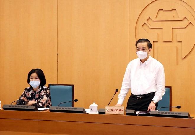 Chủ tịch UBND TP Chu Ngọc Anh kết luận phiên họp