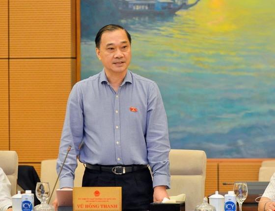 Chủ nhiệm Ủy ban Kinh tế Vũ Hồng Thanh phát biểu tại phiên họp