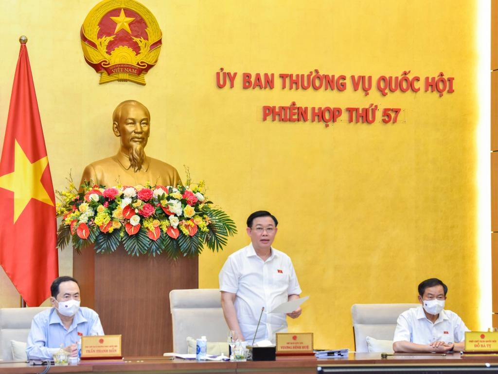 Chủ tịch Quốc hội Vương Đình Huệ phát biểu bế mạc phiên họp