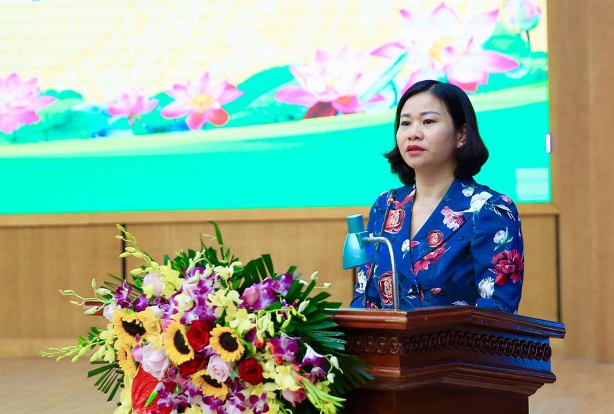 Phó Bí thư Thường trực Thành ủy Nguyễn Thị Tuyến phát biểu chỉ đạo tại kỳ họp
