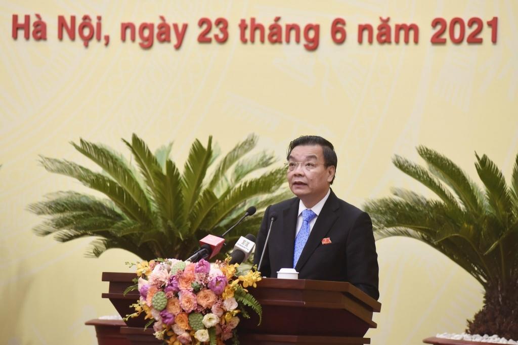 Chủ tịch UBND TP Chu Ngọc Anh phát biểu nhậm chức