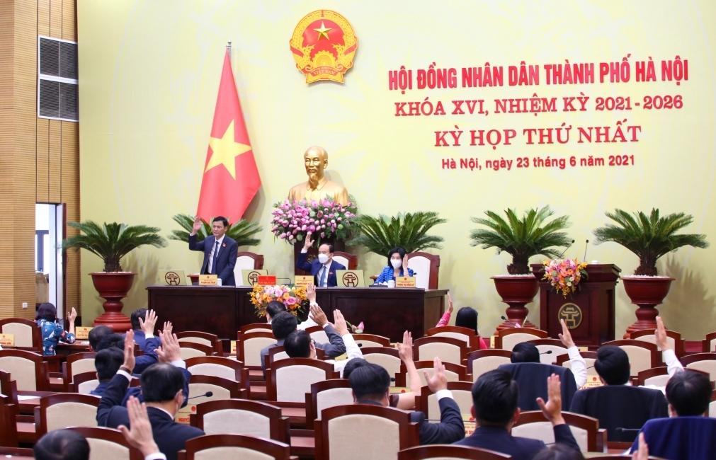 Kỳ họp đầu tiên của HĐND TP Hà Nội khóa XVI thành công tốt đẹp