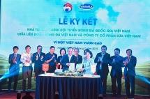Vinamilk trở thành nhà tài trợ chính thức của Đội tuyển Bóng đá Quốc gia Việt Nam