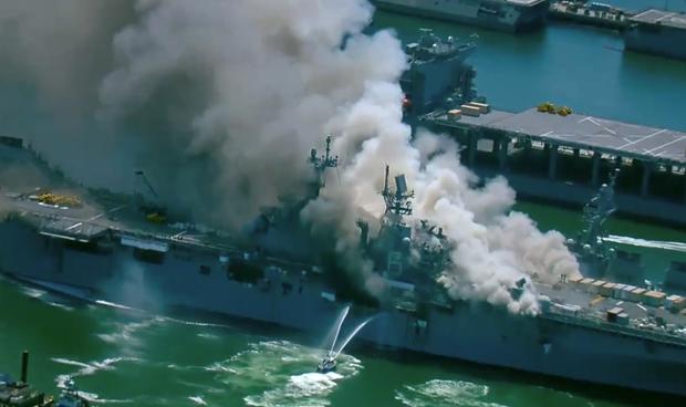 Mỹ: Hỏa hoạn tại căn cứ hải quân khiến một số thủy thủ bị thương