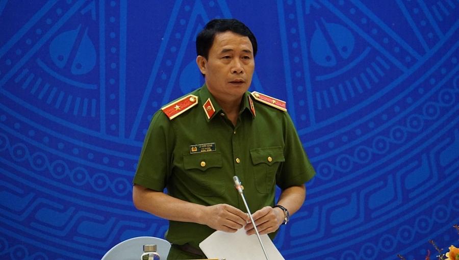 Thiếu tướng Lê Quốc Hùng, Thứ trưởng Bộ Công an trả lời câu hỏi của phóng viên