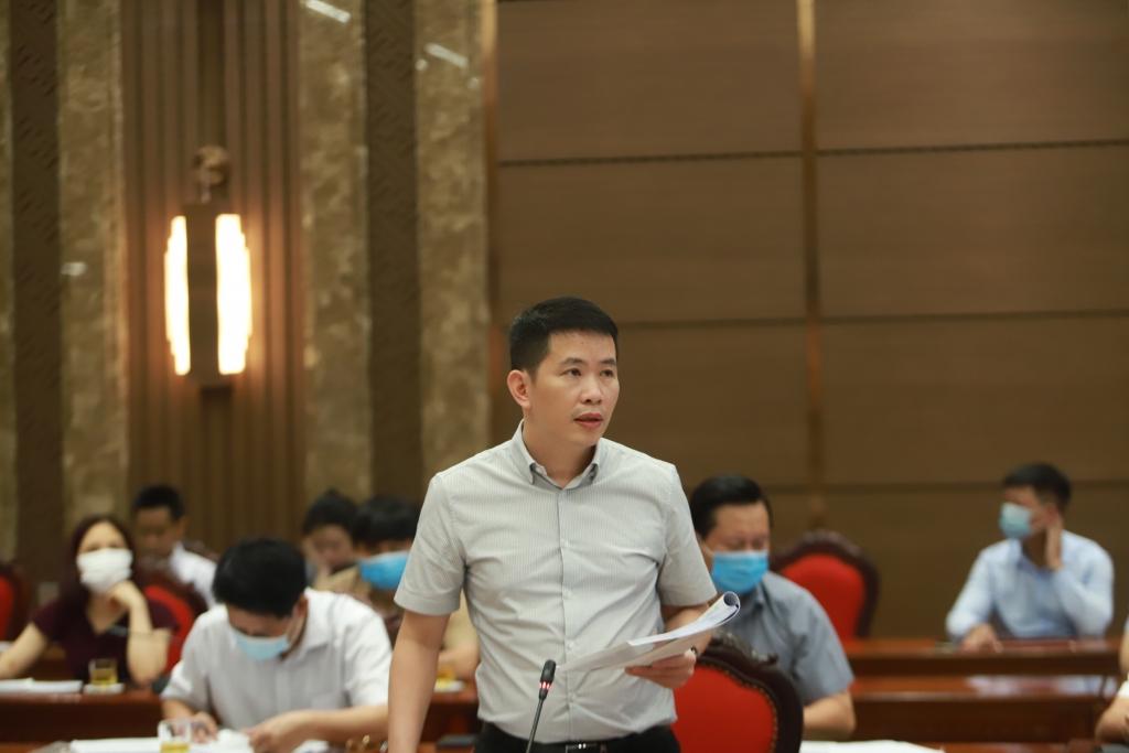 Chủ tịch UBND quận Hoàn Kiếm Phạm Tuấn Long phát biểu tại buổi tọa đàm