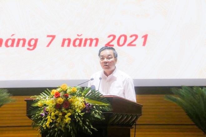 Chủ tịch UBND TP Hà Nội Chu Ngọc Anh phát biểu tại buổi lễ