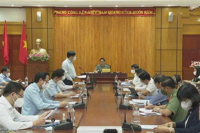 Thủ tướng Phạm Minh Chính làm việc tại Tây Ninh sáng nay 11/7.
