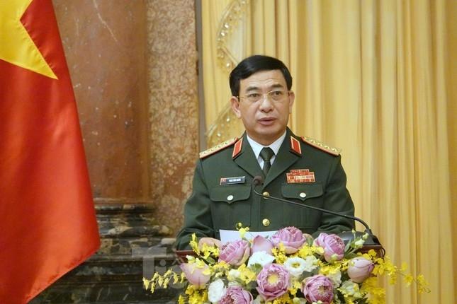 Đại tướng Phan Văn Giang phát biểu tại buổi lễ