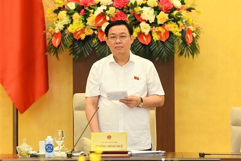 Chủ tịch Quốc hội phát biểu bế mạc.