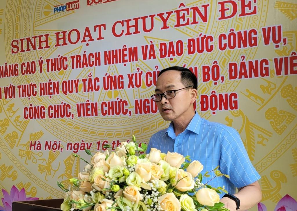 đồng chí Nguyễn Đức Tuấn, Phó Bí thư Đảng uỷ, Chủ nhiệm Uỷ ban Kiểm tra Đảng ủy Thành đoàn Hà Nội phát biểu định hướng