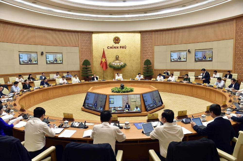 Quang cảnh phiên họp Chính phủ thường kỳ