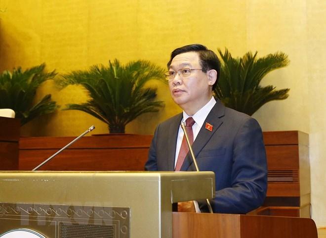 Chủ tịch Quốc hội khóa XIV Vương Đình Huệ. (Ảnh: TTXVN)