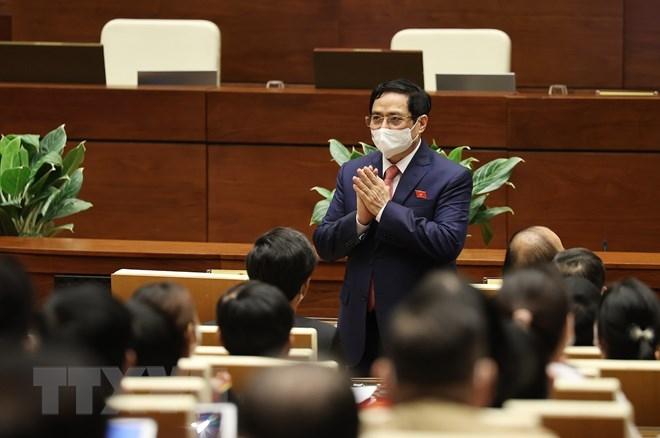 Thủ tướng Phạm Minh Chính dự Phiên khai mạc. (Ảnh: Dương Giang/TTXVN)