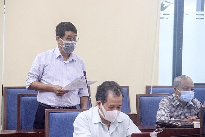 Cử tri Phan Thế Bình, phường Phương Mai phát biểu