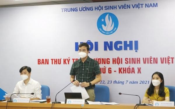 Lãnh đạo Hội sinh viên Việt Nam phát biểu tại hội nghị