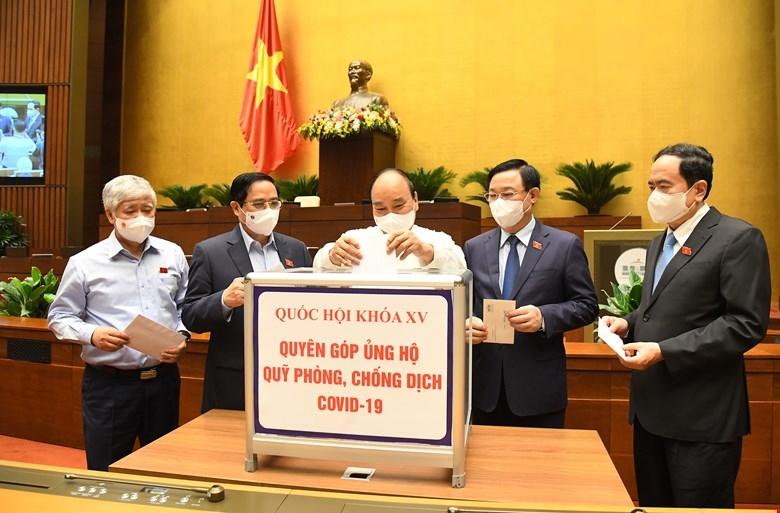 Các đồng chí lãnh đạo ủng hộ tại chương trình
