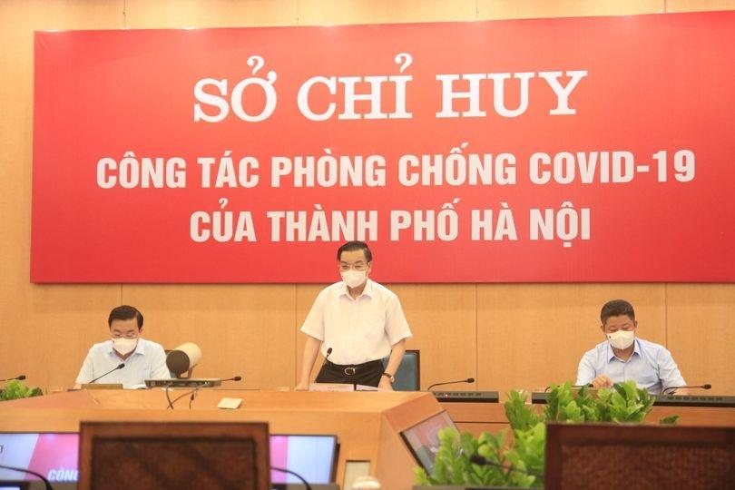 Chủ tịch UBND TP Hà Nội Chu Ngọc Anh phát biểu chỉ