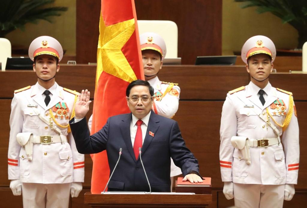 Thủ tướng Phạm Minh Chính tuyên tệ nhậm chức