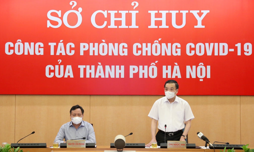 Chủ tịch UBND thành phố Hà Nội Chu Ngọc Anh phát biểu tại cuộc họp
