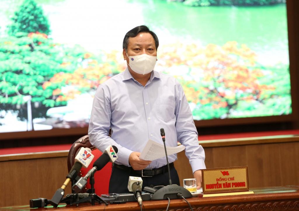 Phó Bí thư Thành ủy Nguyễn Văn Phong kết luận buổi họp báo