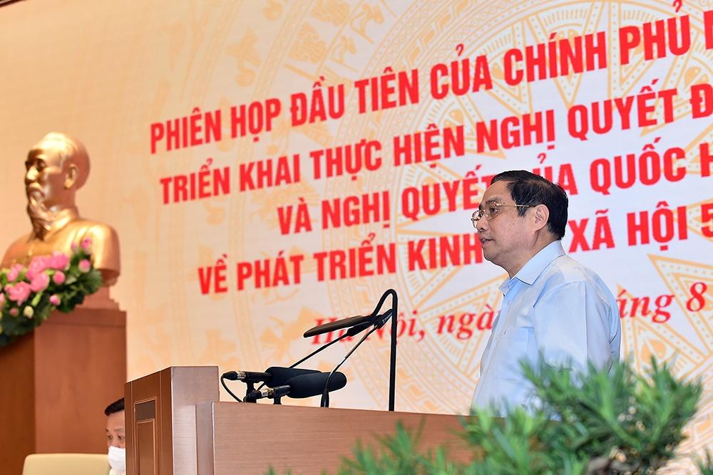 Thủ tướng Phạm Minh Chính phát biểu tại phiên họp (