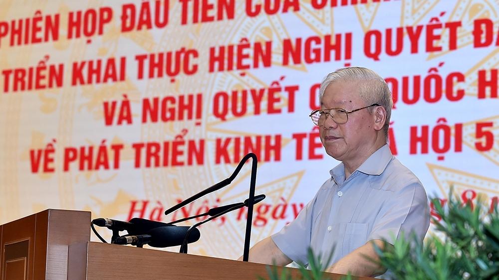"""Tổng Bí thư Nguyễn Phú Trọng: Xử lý dứt điểm những """"điểm nghẽn"""" để đất nước phát triển"""