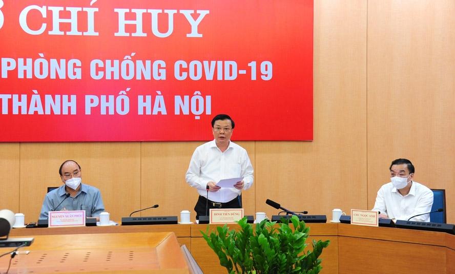 Bí thư Thành ủy Hà Nội Đinh Tiến Dũng phát biểu tiếp thu