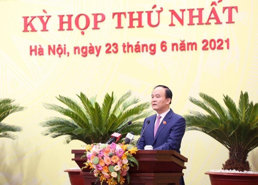 Chủ tịch HĐND TP Nguyễn Ngọc Tuấn phát biểu nhậm chức